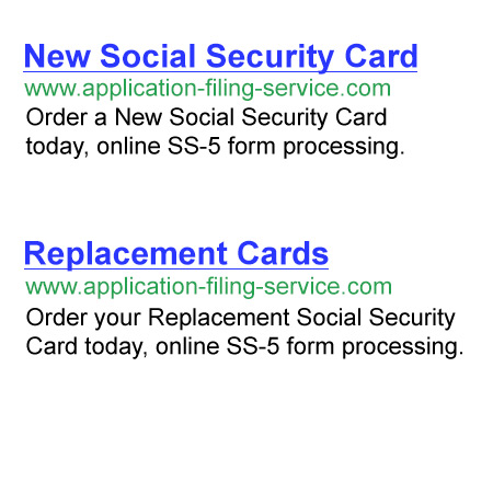 Replacement Social Security Card Ss-5 Form Processing For Lost