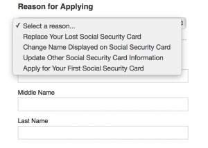 application for new social security card name change